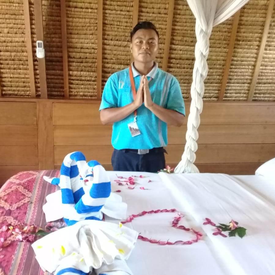 Housekeeping at Mola-Mola Resort, Gili Air