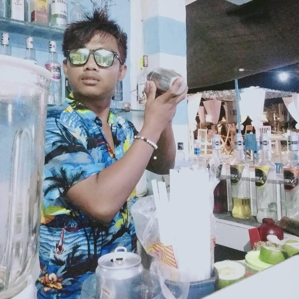 Barman at Brother Bar, Gili Trawangan